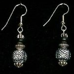 Bead Dangles - Black and White Check
