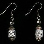 Bead Dangles - Black and White Check Square