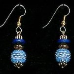 Bead Dangles - Denim Check