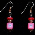 Bead Dangles - Fuschia Teal Star