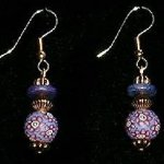 Bead Dangles - Periwinkle Rose Flower