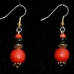 Bead Dangles - Red Check