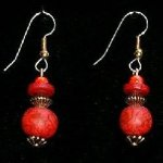 Bead Dangles - Red Swirl