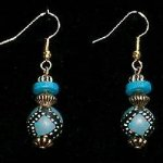 Bead Dangles - Teal Ethnic