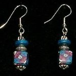 Bead Dangles - Turquoise Fuschia SF Square