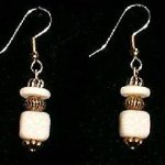 Bead Dangles - White on White Swirl
