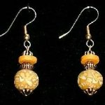 Bead Dangles - Yellow Swirl