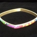 Brass and Polymer Medium Thin Square Bangle