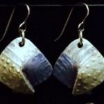 Dangle Foldover Earring-Rugged Terrain- Silver and Blue