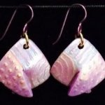 Dangle Foldover Earring-Rugged Terrain-Shades of Purple